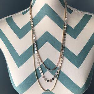 Jewelry - Tri-color Multi Chain Fashion Necklace